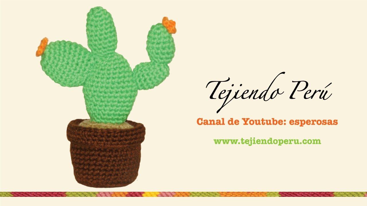 Cactus nopal tejido en crochet (amigurumi) - YouTube