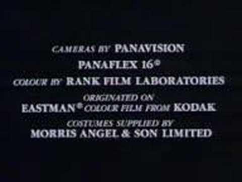 Inspector Morse closing credits 1987