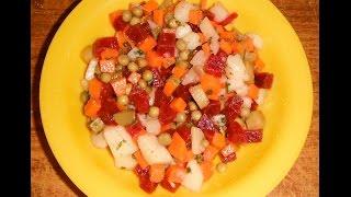 Овощи для винегрета в микроволновке