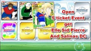 Captain Tsubasa Dream Team: Open 5 ticket event! Get DF Elle Sid Pierre  And Salinas DC
