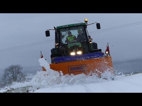 Schneeschieben 2017 mit John Deere || Winterdienst 2017 ||