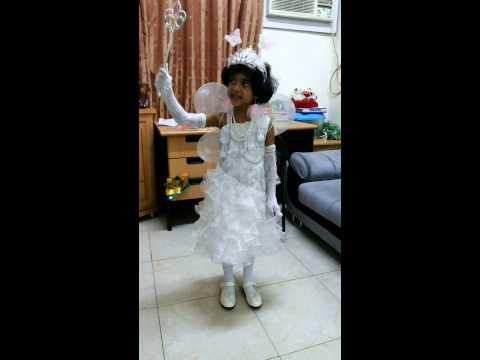 Fancy dress as a angel