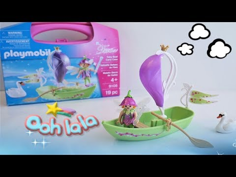 Playmobil Fairies Fairy Boat Carry Case 9105 Unboxing