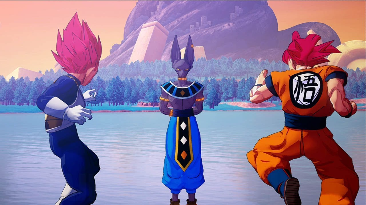 Dragon Ball Z KAKAROT - Goku SSG & Vegeta SSG vs Beerus (lvl 250) Boss Fight @ 1440p ✔