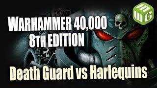 Death Guard Retrospective Review - Death Guard vs Harlequins Warhammer 40k 8th Edition Battle Report