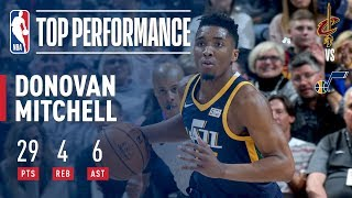 Donovan Mitchell Scores 29 in Win vs. Cavs | December 30, 2017