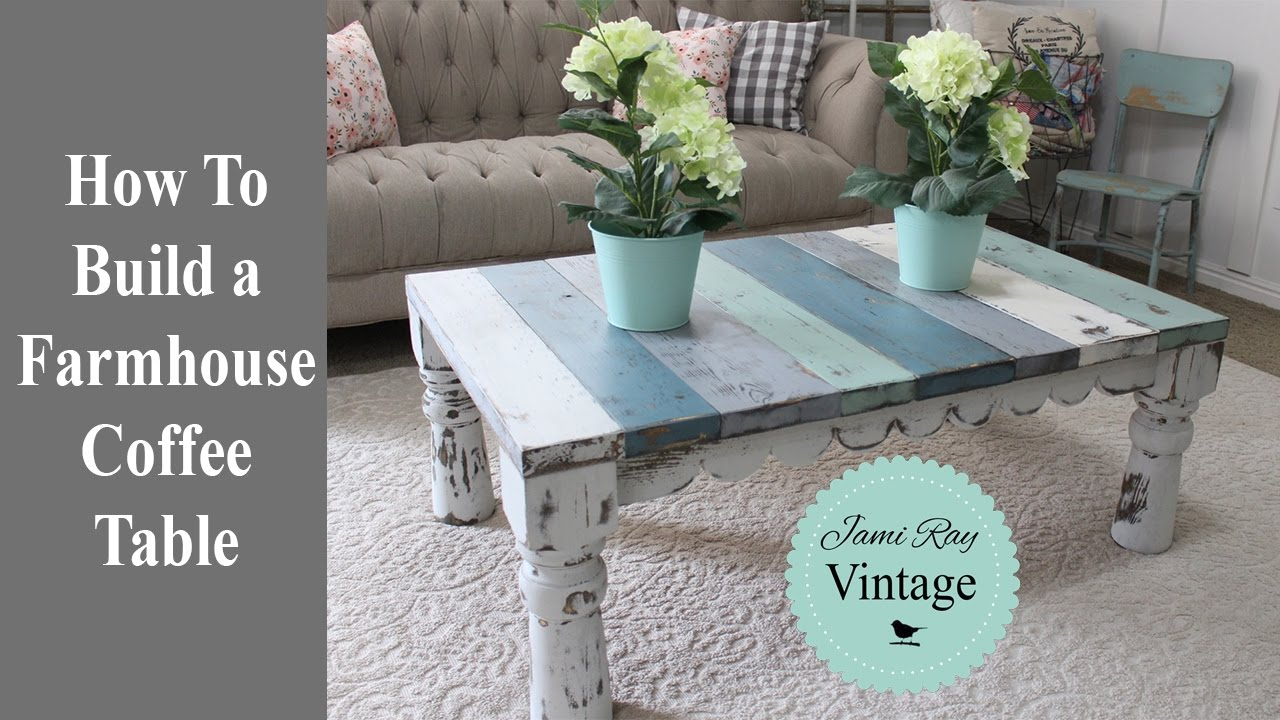how to build a farmhouse coffee table youtube. Black Bedroom Furniture Sets. Home Design Ideas