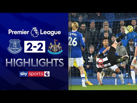 Newcastle score TWO in injury time to rescue point! | Everton 2-2 Newcastle | EPL Highlights