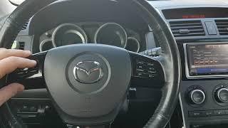 Mazda CX9 2009 г.в. настройка часов бортового компьютера