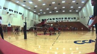 Highlights & Angie Maina vs. Humboldt St. - Cal State East Bay Volleyball
