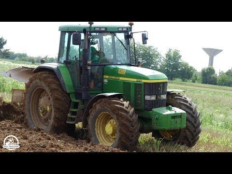 JOHN DEERE 7810 + MORO Aratri Warrior 4   Plowing   F.lli GROSSO   ᴴᴰ
