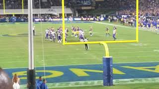 The end of Rams Vikings Thursday night football 2018 Rams Win