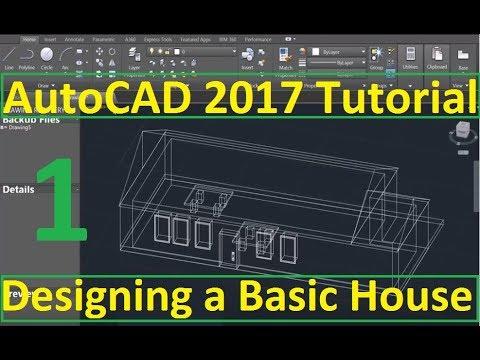 Beginner Tutorial 1 (AutoCAD 2017) - Designing a Basic House - YouTube