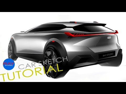 [car sketch]idea021 Compact SUV / tutorial thumbnail