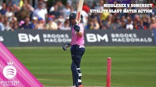 AB, MALAN & SOWTER PUT ON A SHOW | MIDDLESEX v SOMERSET | MATCH ACTION