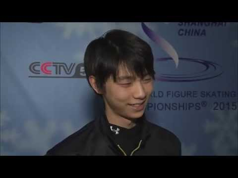 150327 CCTV Interviews Yuzuru Hanyu (in English) 羽生結弦 インタビュー (英語)