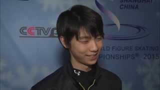 150327 CCTV Interviews Yuzuru Hanyu (in English) 羽生結弦 インタビュー (英語)