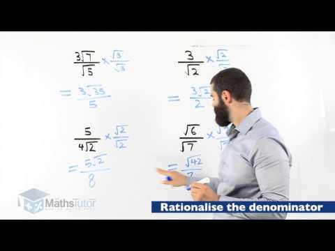 Maths Online - Rationalising the Denominator