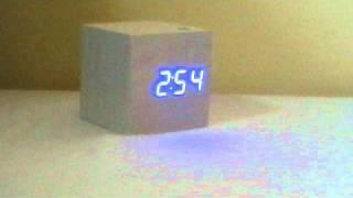 Nature Cube Alarm clock White wood
