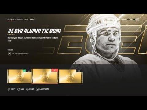 Building a Legend part 1. What do you get? TIE DOMI. NHL 19 HUT