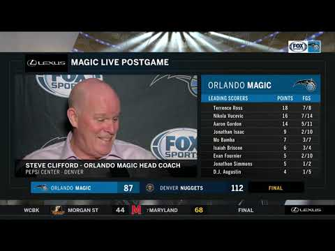 POSTGAME REACTION: Orlando Magic at Denver Nuggets 11/23/18