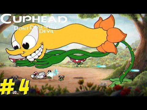 Cuphead! Co-Op Part 4: Floral Fury! - YoVideogames