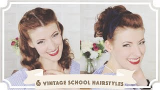 vintage tutorial for short hair