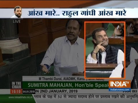 Rahul Gandhi winks again in parliament; video goes viral