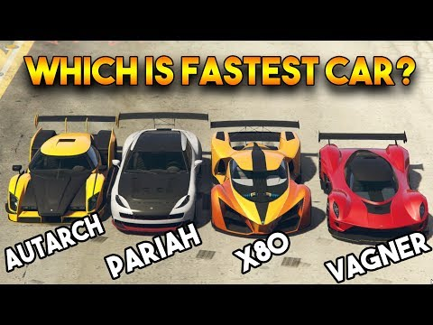 GTA ONLINE AUTARCH VS X80 PROTO VS VAGNER VS PARIAH  WHICH IS FASTEST CAR Among These?