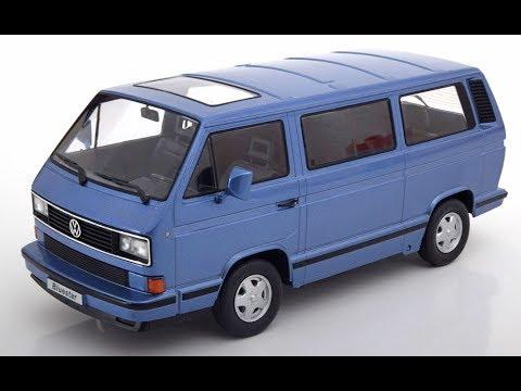 VW T4 Caravelle 1992  blau Bus 1:18 KK-Scale  *NEW* Bulli