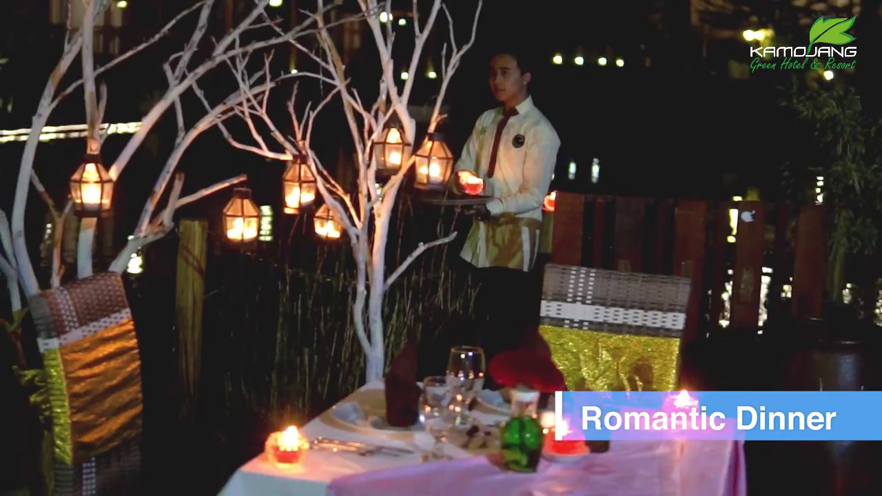 Romantic Candle Light Dinner   Kamojang Green Hotel And Resort