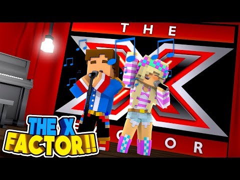 X FACTOR AUDITION || SINGING DONNY & LEAH WIN THE X FACTOR?? Minecraft Roleplay