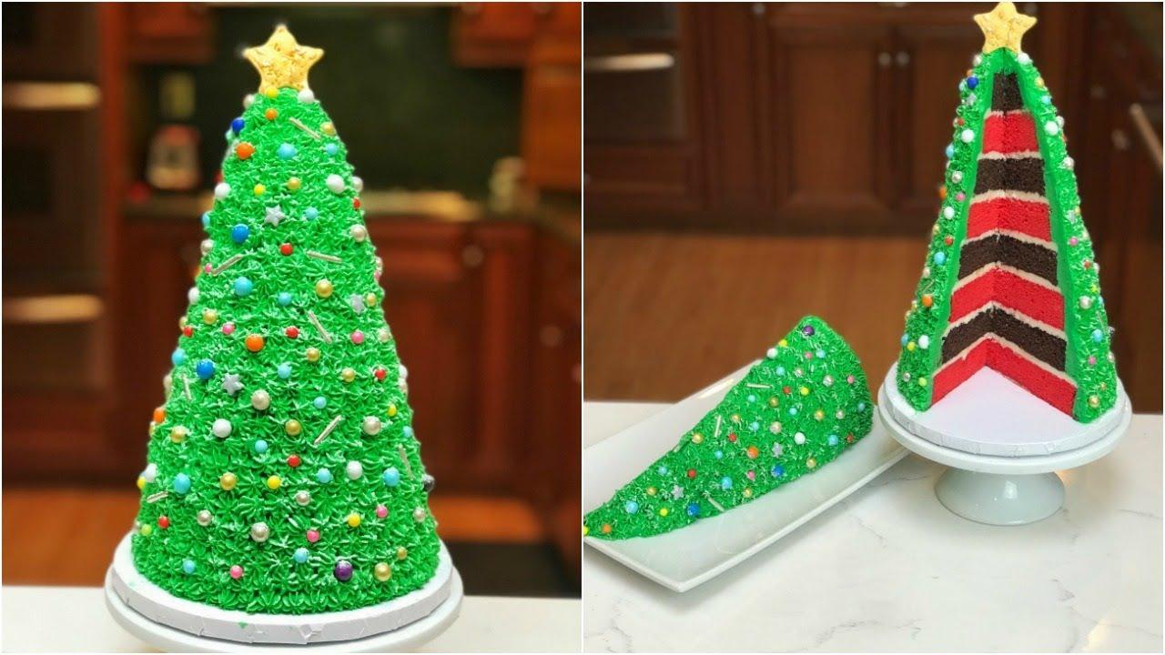 How To Make a CHRISTMAS TREE CAKE