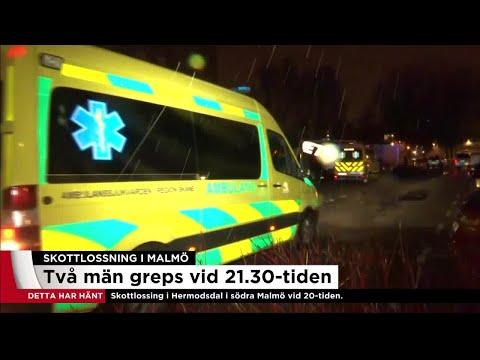 Två gripna för skjutning i Malmö - Nyheterna (TV4)