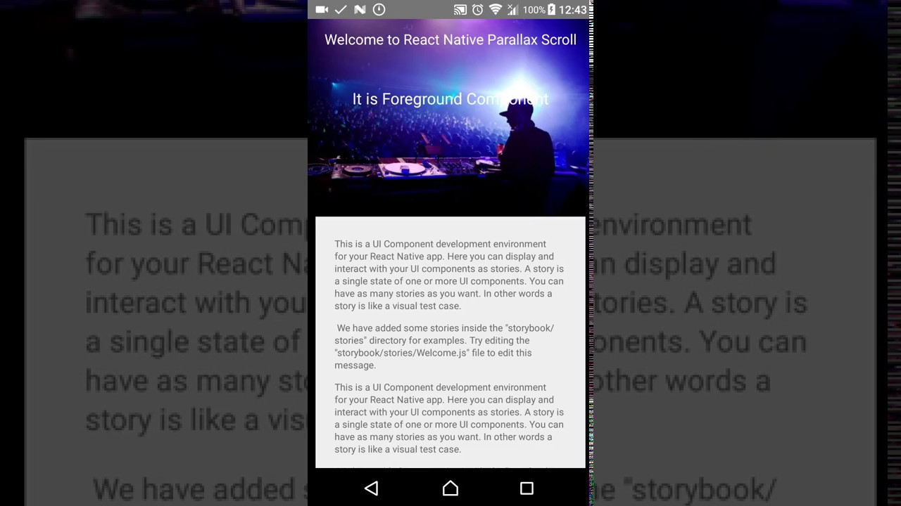 Scrollview sticky header react native