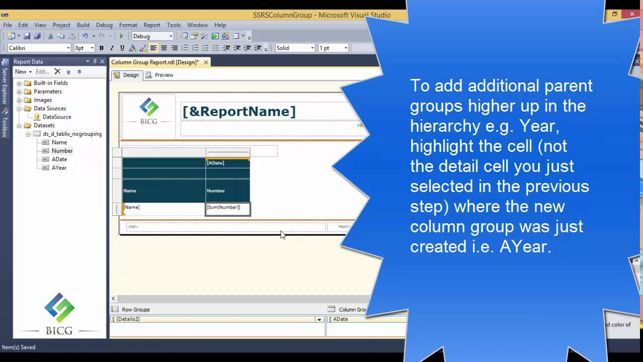 Ssrs how to add a column group to an existing table youtube - How to add a column in a table ...