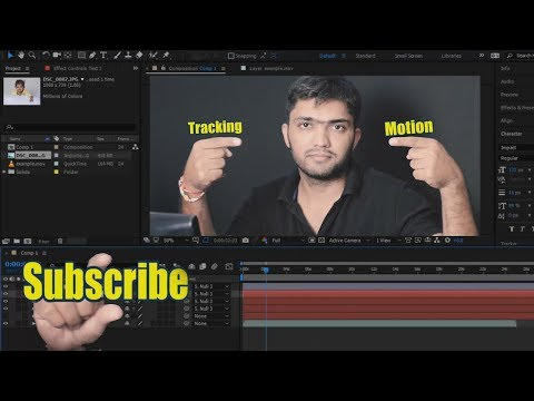#Ae-27 Motion Tracking in Adobe After Effects [in HINDI] for Beginners