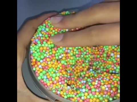 ASMR - Crunchy Slime high definition sounds very squishy floam - YouTube