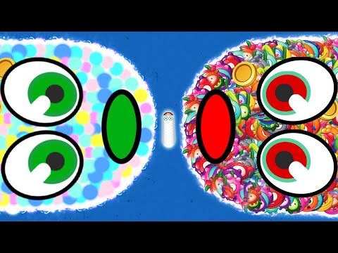 WORMSZONE.IO 001 BIGGEST & LONGEST SLITHER SNAKE TOP 01 / Epic Worms Zone Best Gameplay! #56