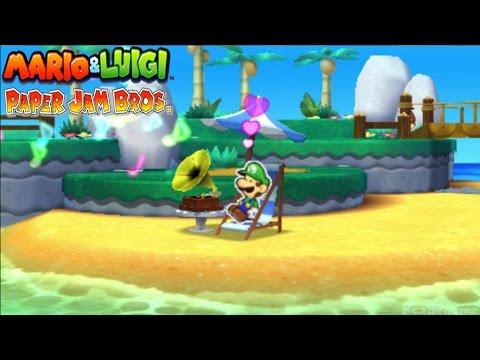 Mario & Luigi Paper Jam Bros  Music Player feat Paper Luigi  3DS
