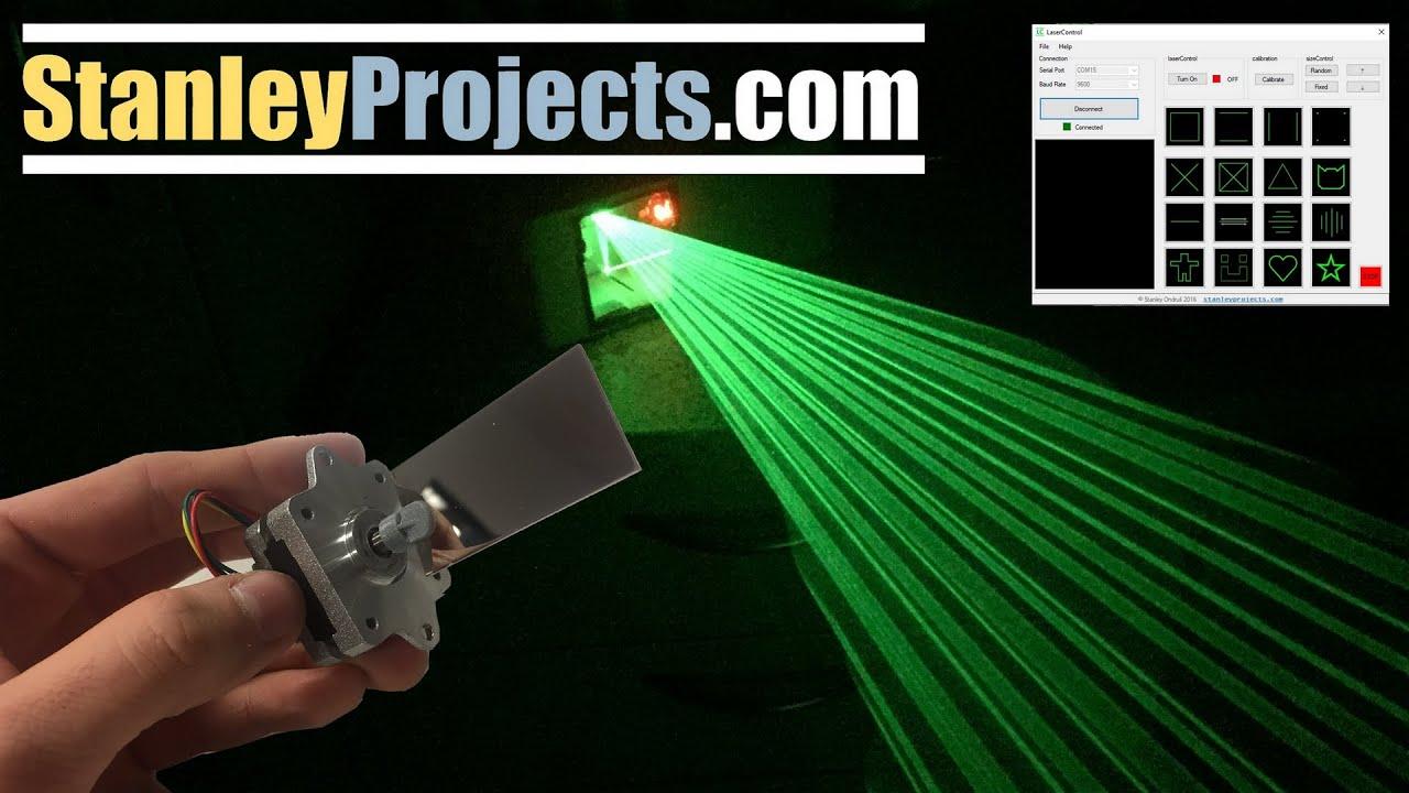 Arduino laser projector youtube