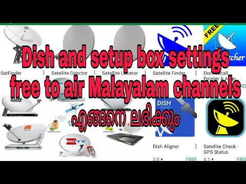 How To set Tv dish antenna and set top box. Free To air channel,New Malayalam