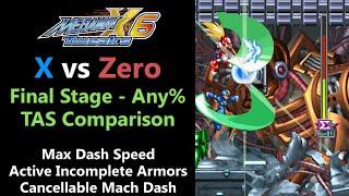 [TAS Comparison] Tweaked Mega Man X6 - Max Dash Speed,  AIA and CMD - Final Stage