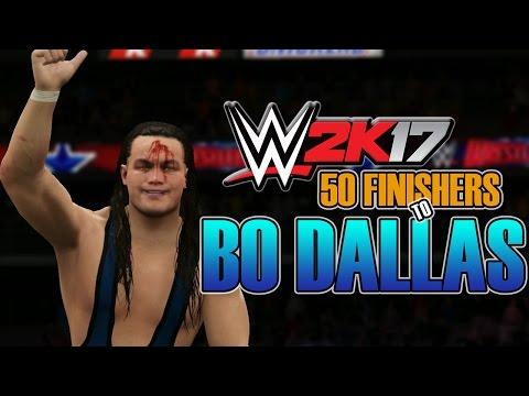 WWE 2K17 - 50 FINISHERS TO BO DALLAS