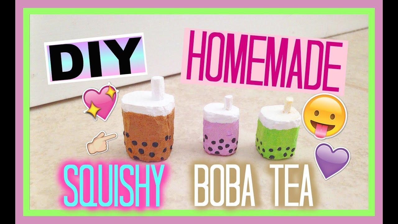 Diy Squishy Eraser : DIY Homemade Squishy Boba Tea - YouTube