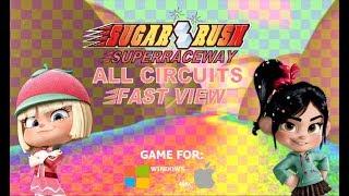 Sugar Rush Superraceway-  All circuits (Fast View)- Wreck-It Ralph PC games