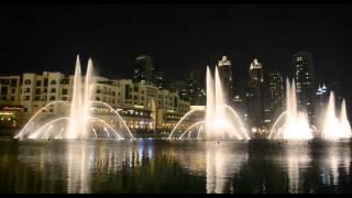 Fontane danzanti a Dubai - The Prayer (Andrea Bocelli e Celine Dion)