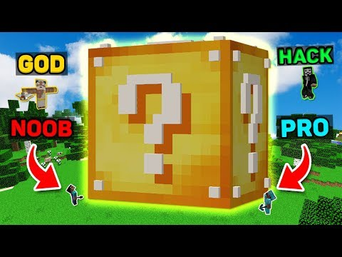 Minecraft NOOB vs PRO vs HACKER vs GOD : GIANT LUCKY BLOCK Battle Challenge in Minecraft (Animation)