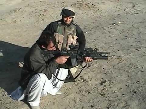 Weapons Demonstration with Afgan Police, Bagram Air Base, Afghanistan