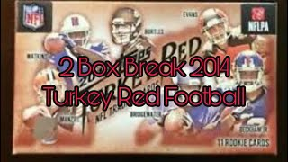 Opening 2 Boxes 2014 Turkey Red Football